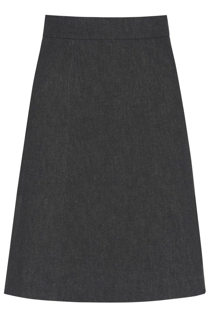 captains skirt - black denim (skjørt)