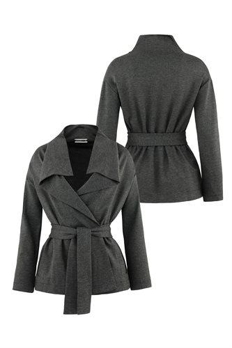 Kill Bill wrap jacket - gray front and back (jacket/cardigan)