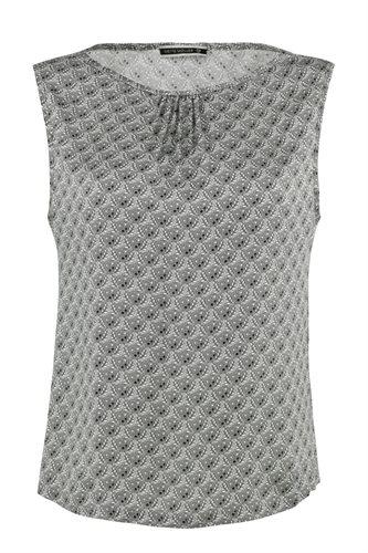 Smoothie top print - grey (top)