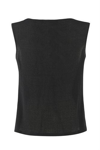 Smoothie top black - black from behind (top)