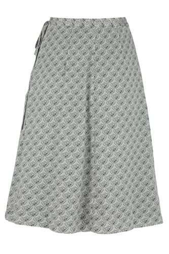 Smoothie wrap skirt print - gray from behind (skirt)