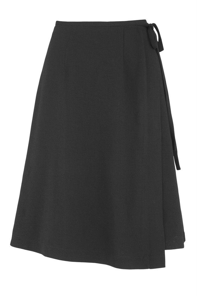Smoothie wrap skirt black - black (skjørt)