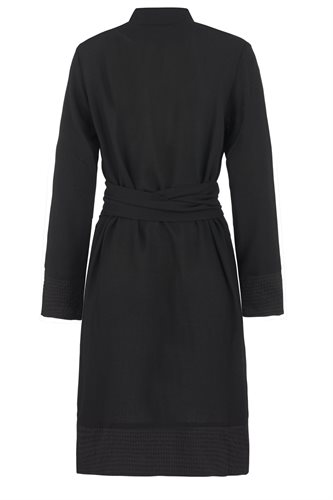Smoothie shirt dress black - black from behind (dress)