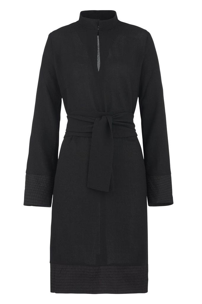 Smoothie shirt dress black - black (kjole)