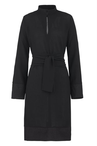 Smoothie shirt dress black - black (dress)
