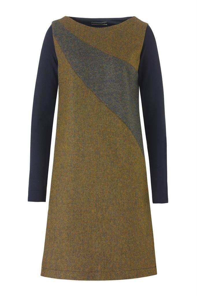 W121 Fish wide dress - yellow (kjole)