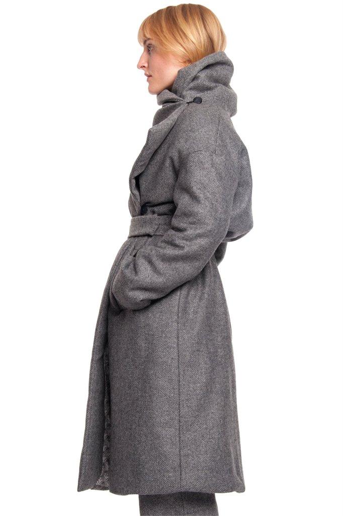 Fish wrap coat - grey (yttertøy)