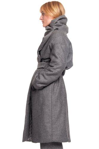 Fish wrap coat - grey (outerwear)
