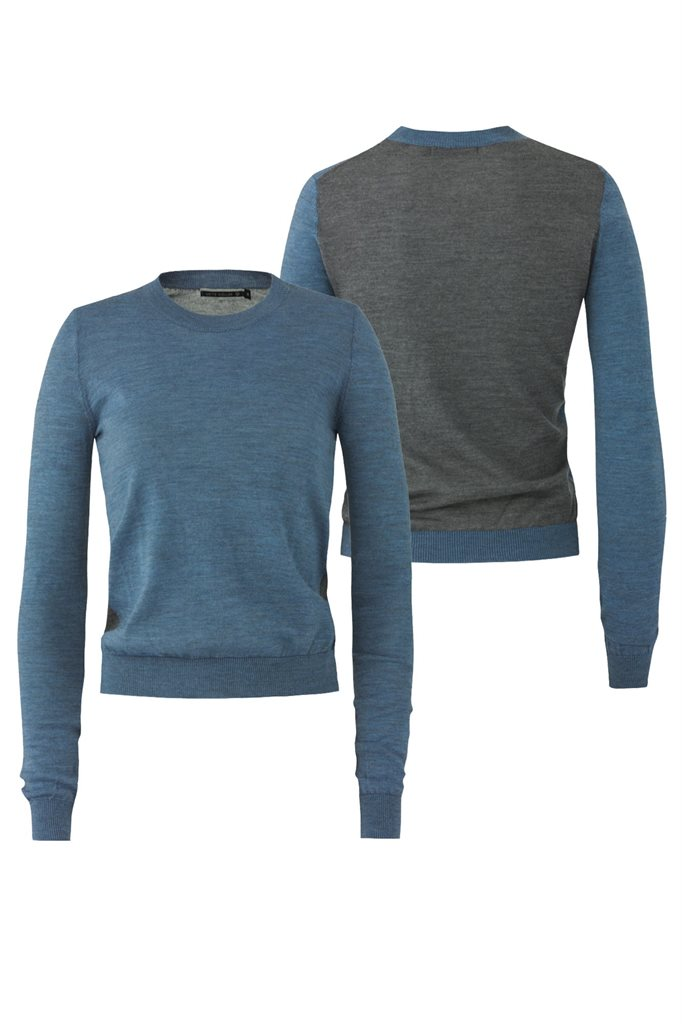 E60 Thin sweat - light blue (genser)
