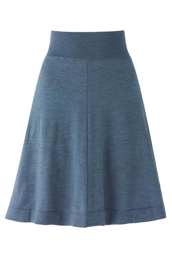 C6 Classic wide skirt - light blue (skjørt)