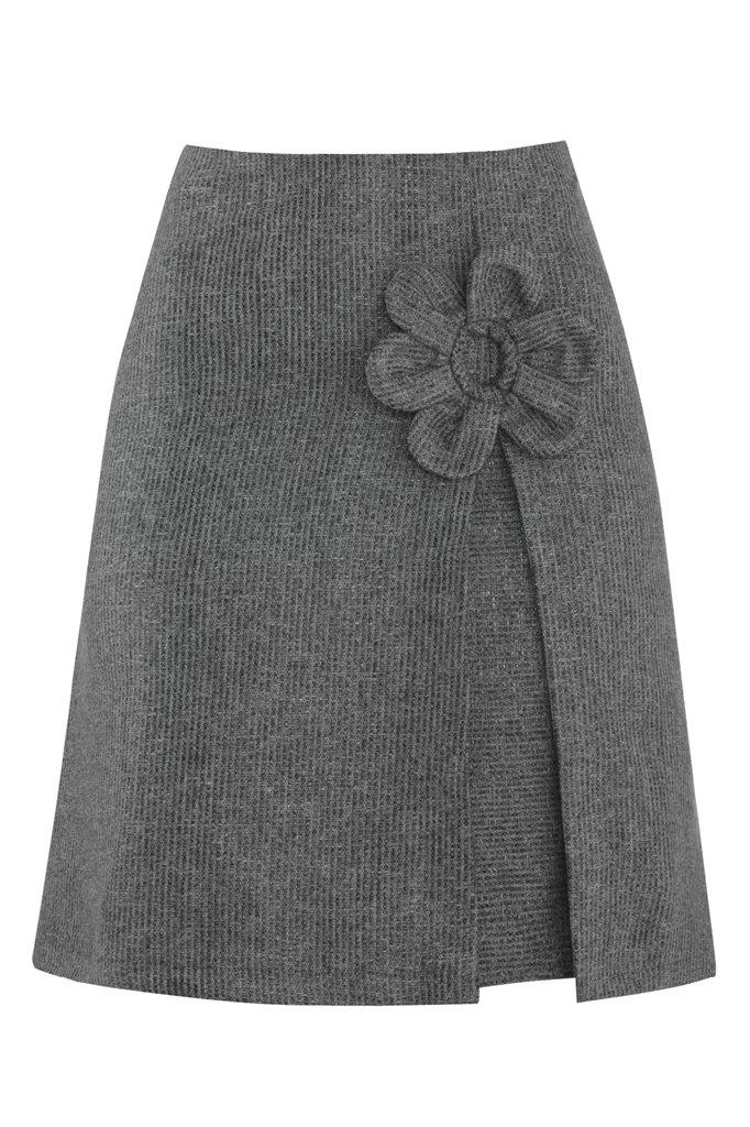 W88 Mochi skirt silver/copper - silver strip (skjørt)