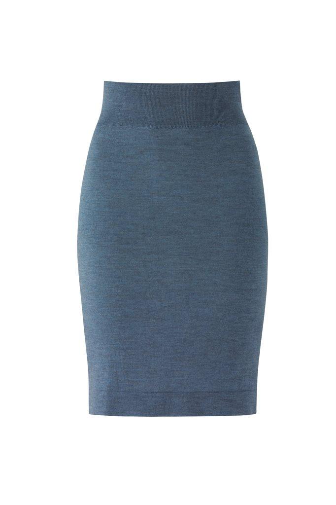C7 Classic slim skirt 2015 - light blue (skjørt)