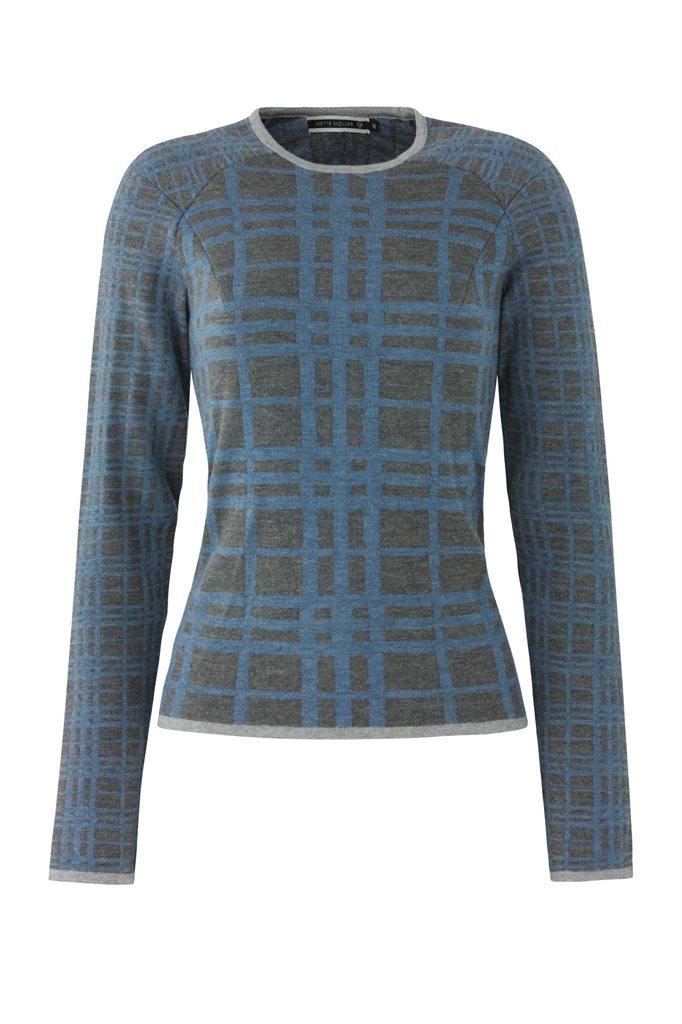 E65 CrissCross sweater - blue mix (genser)