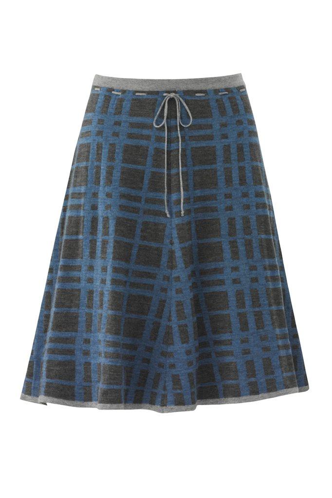 E67 CrissCross skirt - blue mix (skjørt)