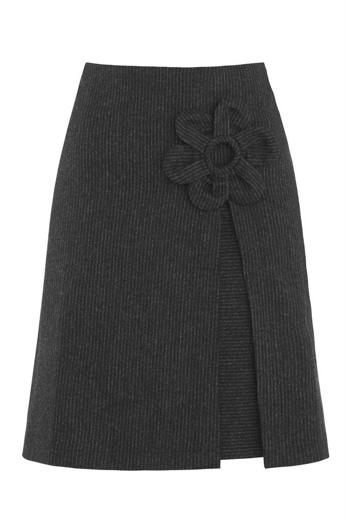 W88 Mochi skirt willa strip - willa strip (skjørt)