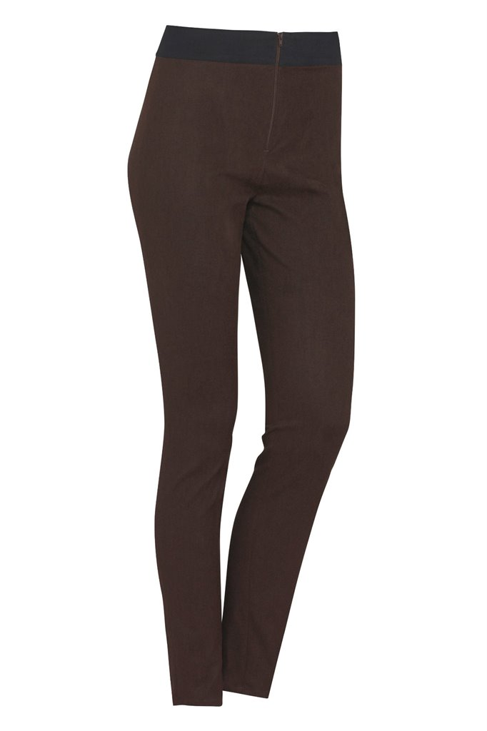 W83 Graphic trousers - brown/ navy (bukse)