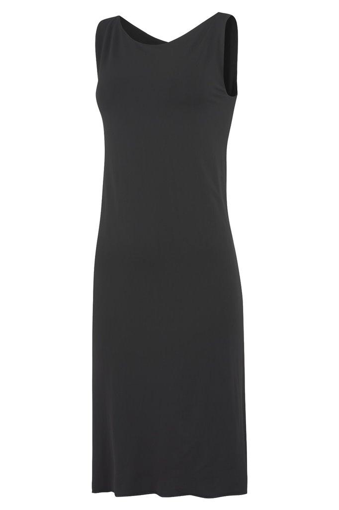 double slip dress - black (kjole)