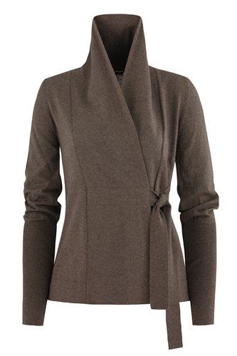C12 Classic wrap jacket - brown (jacket/cardigan)