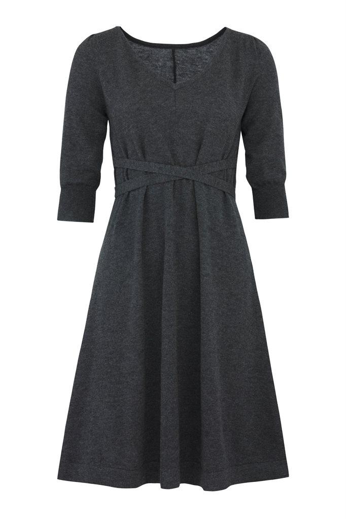 C2 classic A-line dress - charcoal (kjole)
