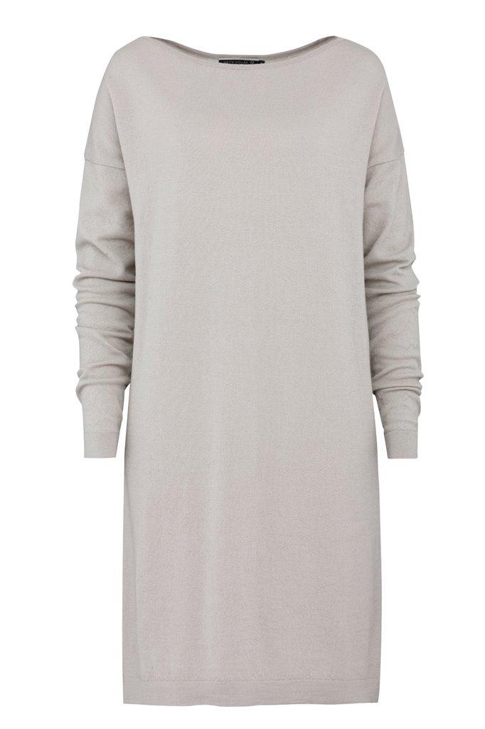 E53 Plain square dress - beige (kjole)