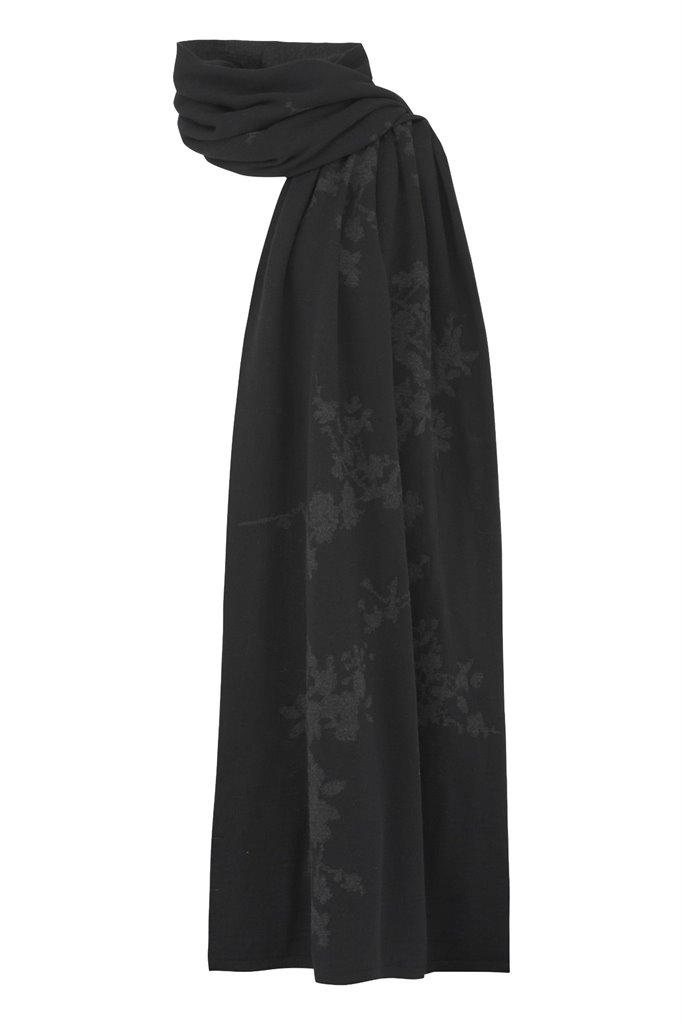 E54 Asian Bloom scarf - black (tilbehør)