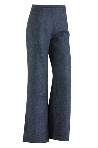 W122 Fish wide pants solid - blue (pants/shorts)