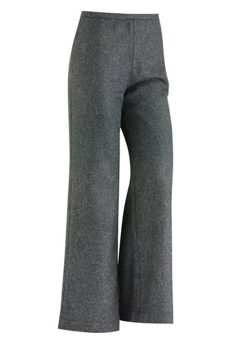 W122 Fish wide pants solid - charcoal (pants/shorts)