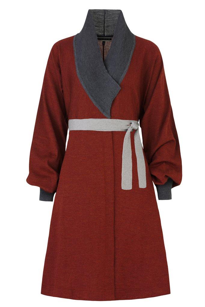 Classic kimono dress - rust (kjole)