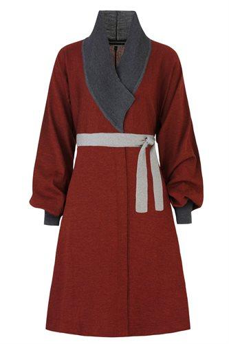 Classic kimono dress - rust (dress)