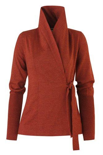 C12 Classic wrap jacket - rust (jacket/cardigan)