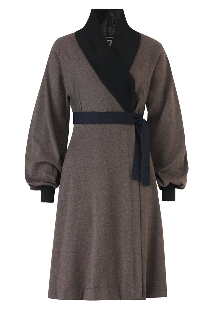 C16 Classic kimono dress - brown (kjole)