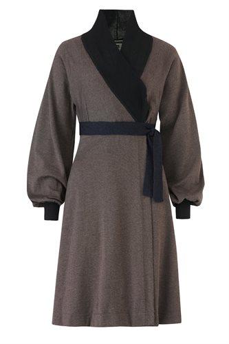 Classic kimono dress - brown (dress)