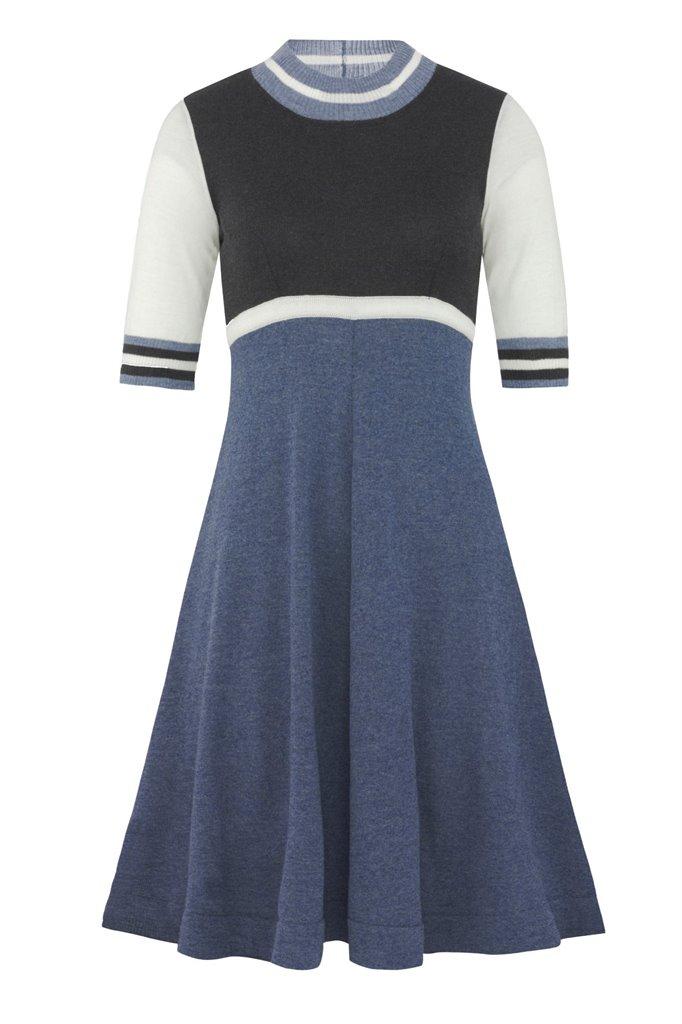 Striped dress - grey (kjole)