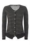 Striped cardigan - grey stripes (jakke)