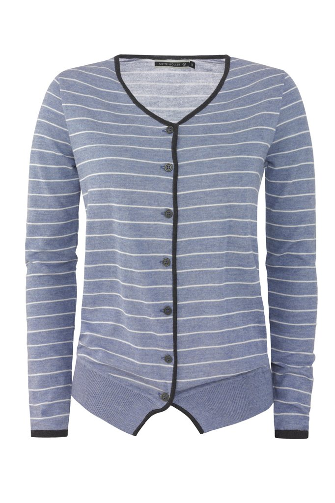 Striped cardigan - blue stripes (jakke)