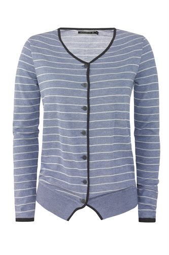 Striped cardigan - blue stripes (jacket/cardigan)