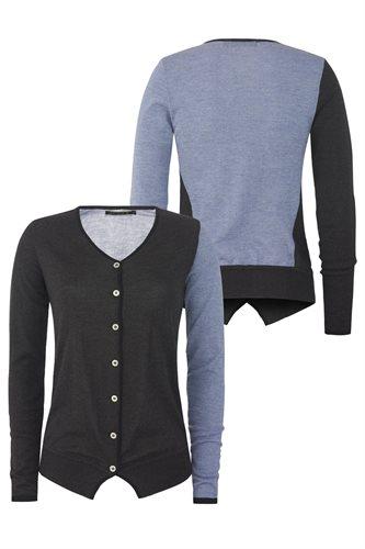 Colorblock cardigan - grey (jacket/cardigan)