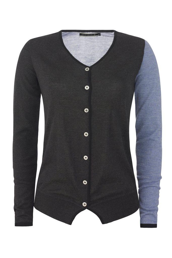Colorblock cardigan - grey (jakke)