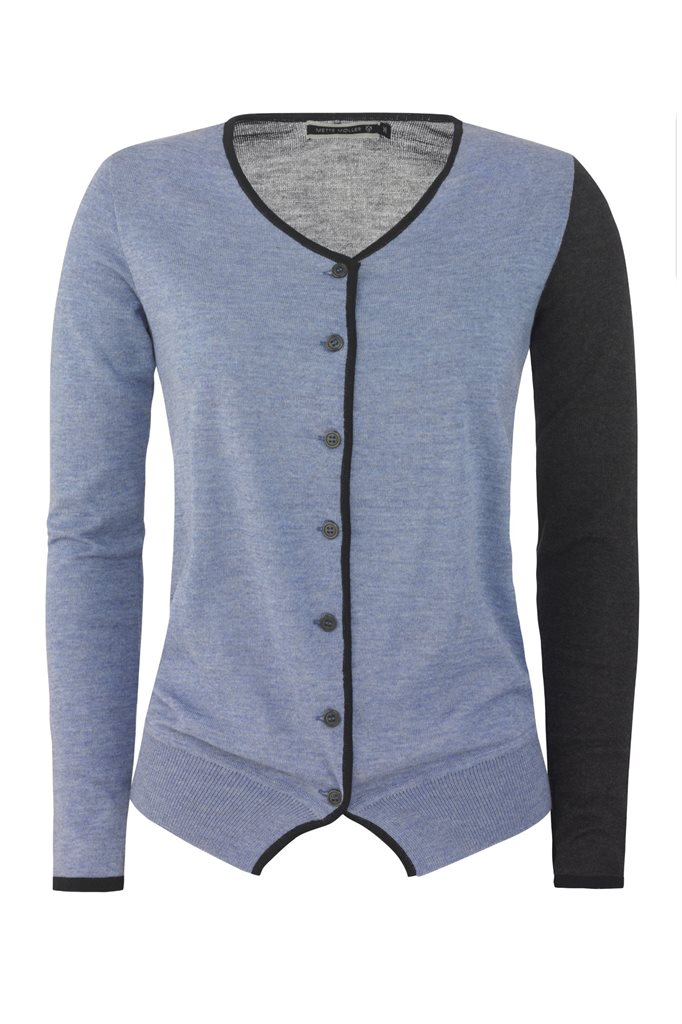 Colorblock cardigan - blue (genser)