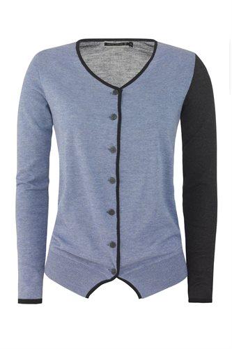 Colorblock cardigan - blue (jacket/cardigan)