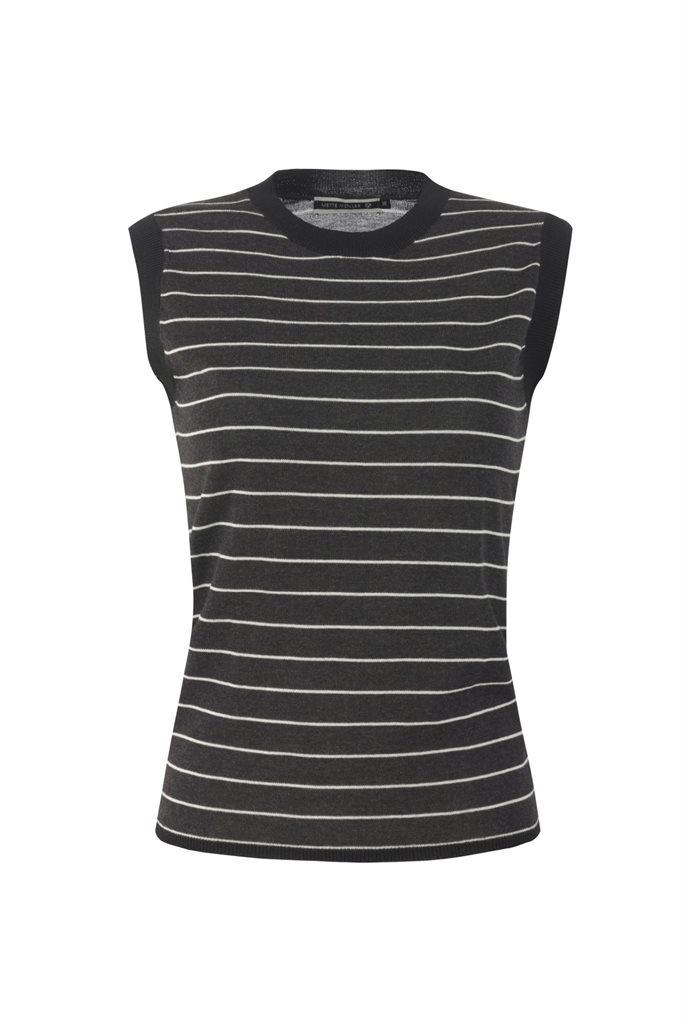 Striped top - grey stripes (topp)