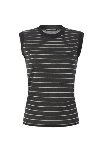 Striped top - gray stripes (top)
