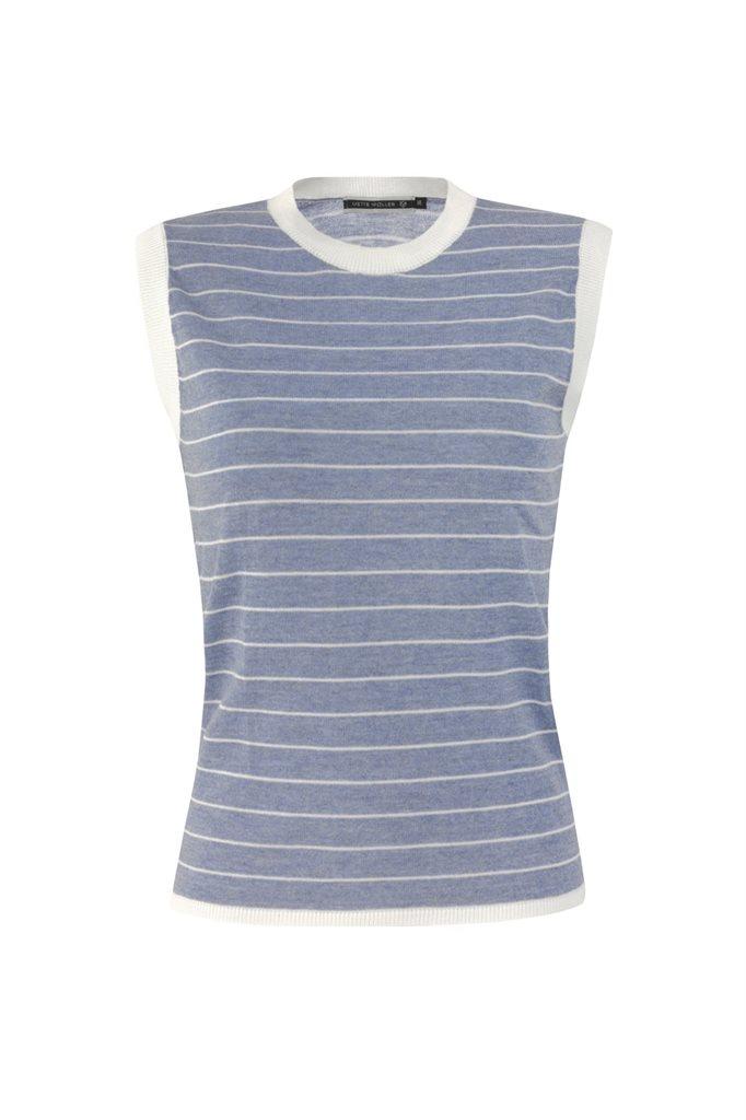 Striped top - blue stripes (topp)