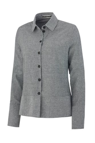 Small striped cotton shirt - black stripes (shirt)