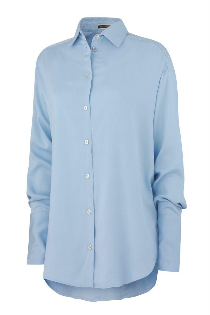 Big viscose shirt - sky blue (skjorte)