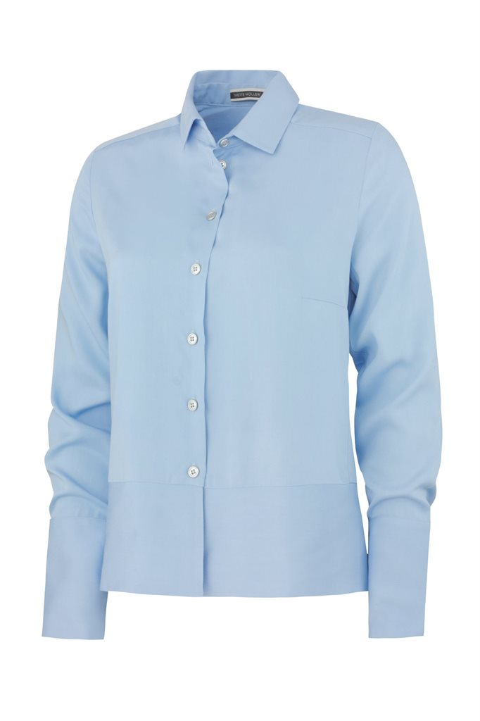 Small viscose shirt - sky blue (skjorte)
