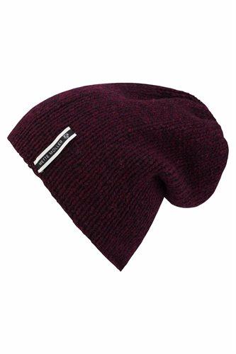 A Head cap - bottle and garnet - yarn (tilbehør)