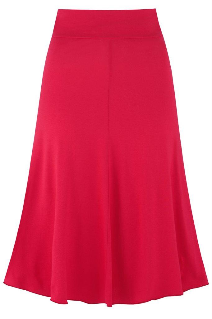 Fluid skirt - rød (skjørt)