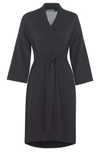 Fluid Kimono dress - black (dress)