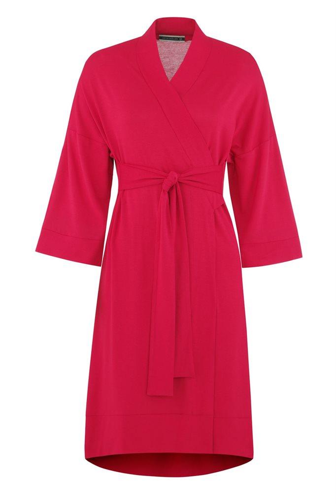 Fluid Kimono dress - rød (kjole)